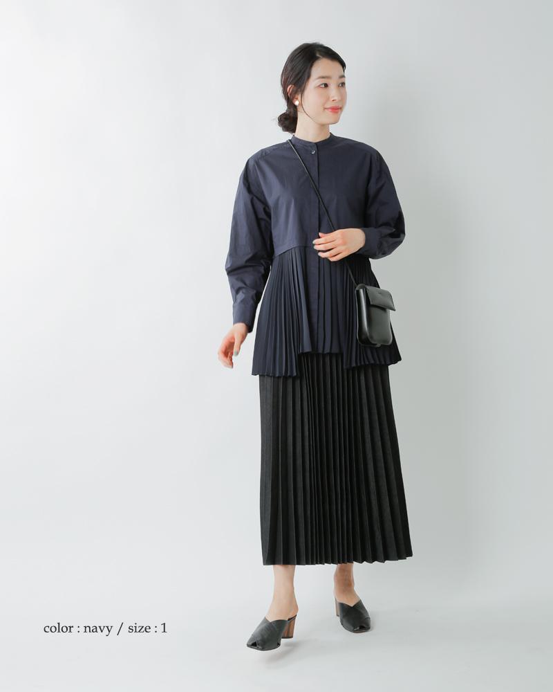 CLANE(クラネ)ミックスプレートレイヤーシャツ 10108-3052