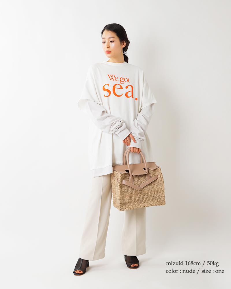 SEA(シー)アバカかごバッグM 110520423