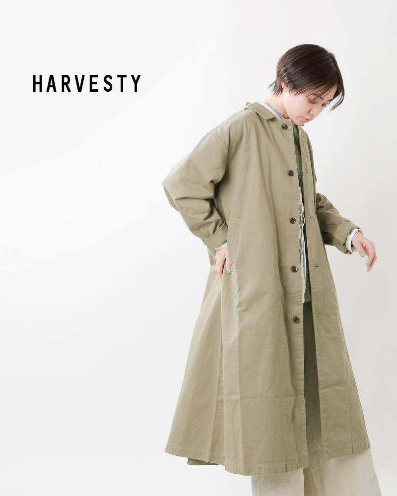 HARVESTY(ハーベスティ)コットンチノクロスオーバーコート a31803