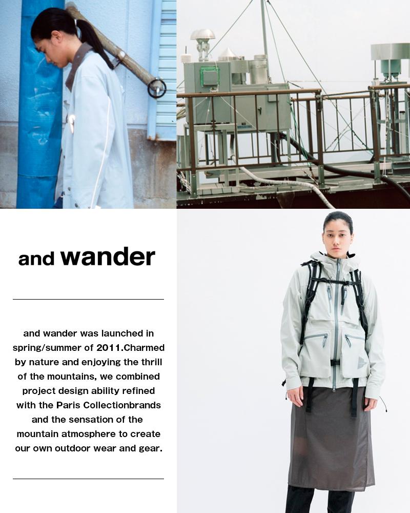 and wander(アンドワンダー)ペーパークロスキャップ 574-1186420