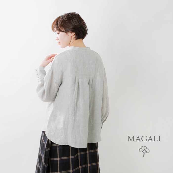 MAGALI(マガリ)シャンブレーリネンファーマープルオーバー bl152