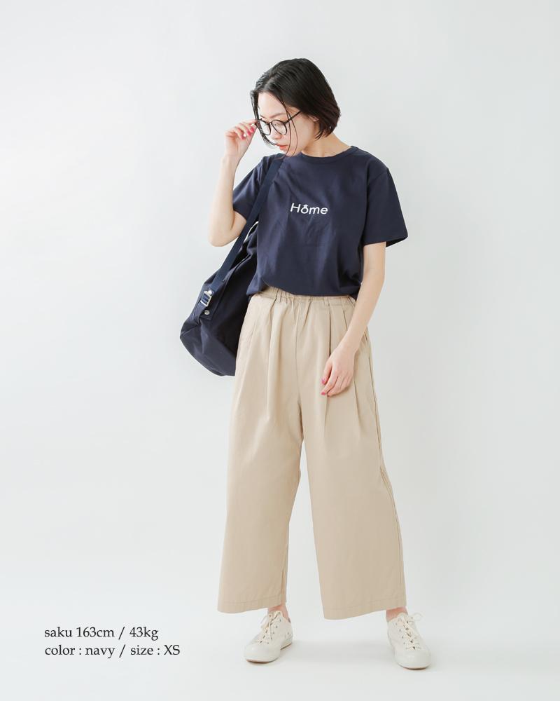 """EEL(イール)コットンプリントTシャツ""""HOME"""" e-20523"""