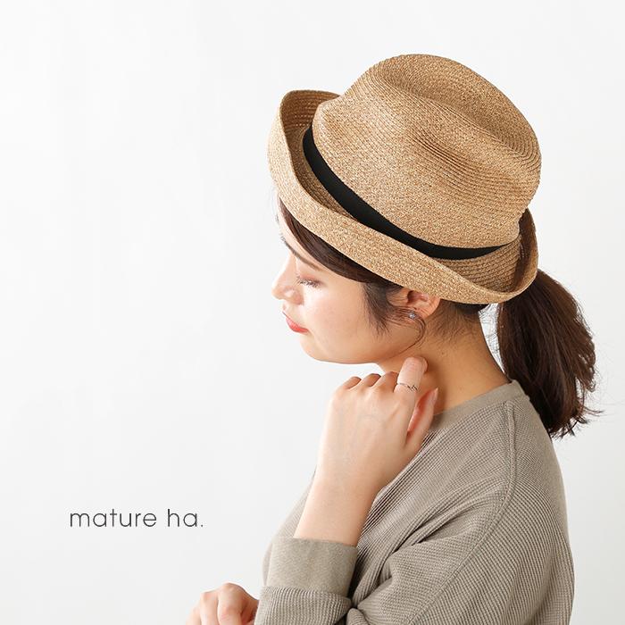 mature ha.(マチュアーハ)グログランリボンペーパーブレードボックスハット mbox-104