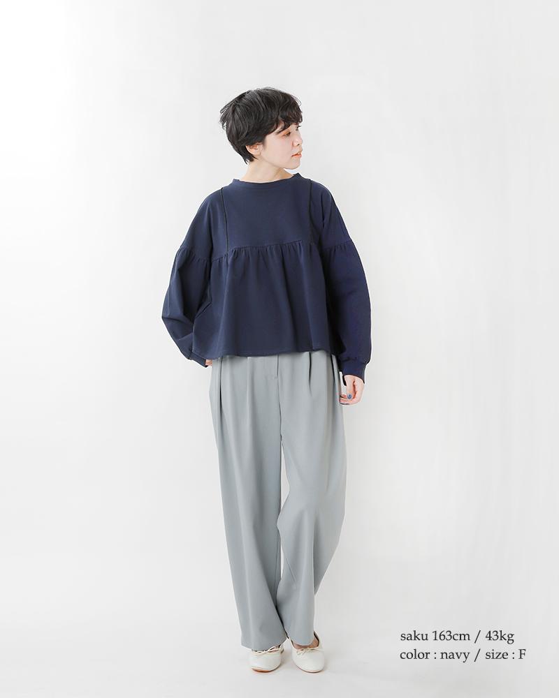 nooy(ヌーイ)40/1コンパクトヤーン天竺コットンケーププルオーバー ntp02ss21