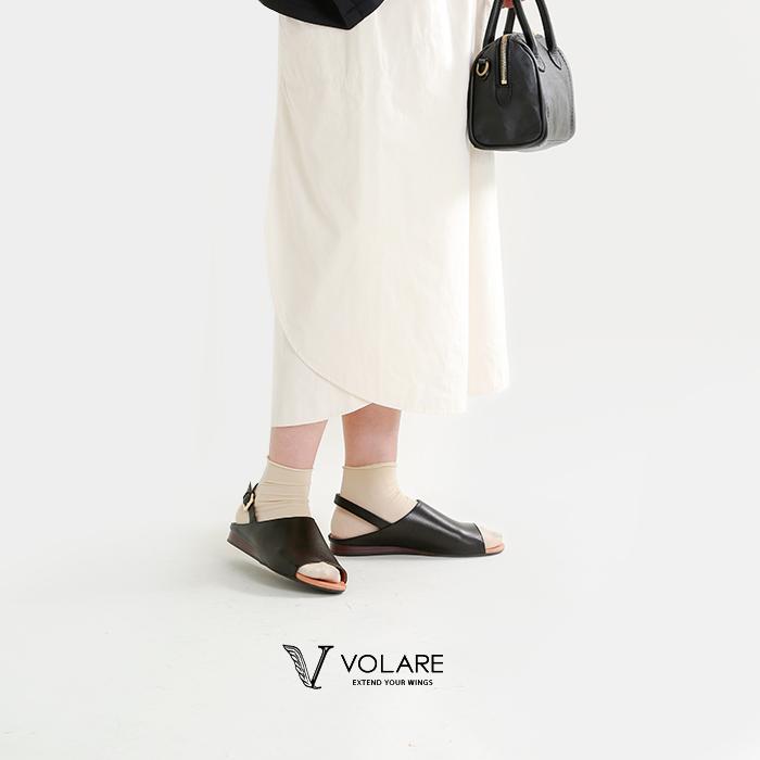 "volare(ヴォラーレ)バックストラップフラットレザーサンダル""SANDALOPENTOE""sandal-open-toe"