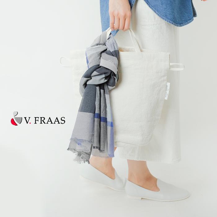 V.Fraas(ヴィ・フラース)コットンヴィスコースチェック柄ストール vfd211003